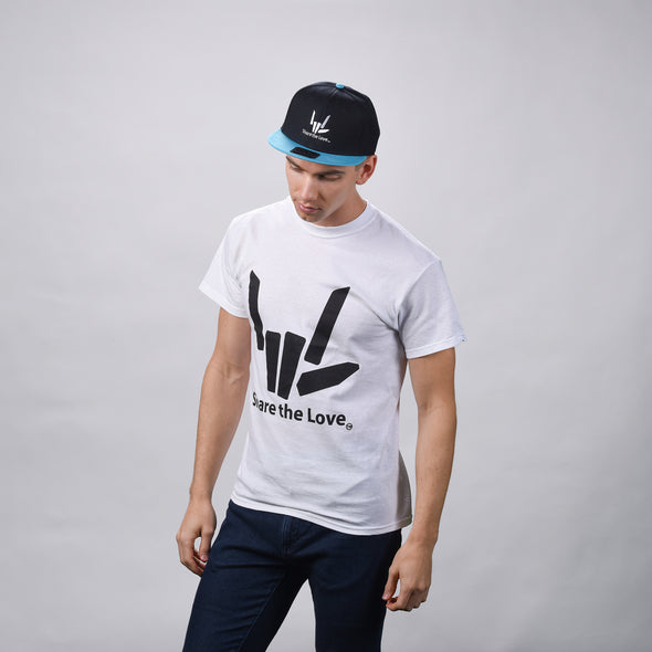 Share the Love Snapback (Aqua) - StephenSharer