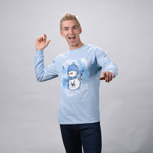 Snowman Long Sleeve (Blue) - StephenSharer