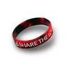 Share the Love Wristband (Black/Red Swirl)