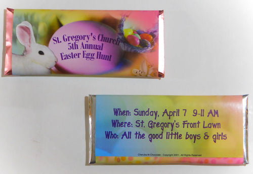 CANDY BAR WRAPPERS -  EASTER CANDY - 25-1000