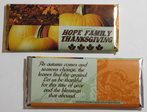 CANDY BAR WRAPPERS -  FALL FESTIVITIES - 25-1000