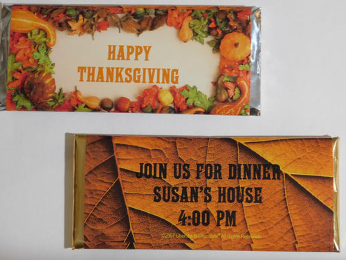 CANDY BAR WRAPPERS - AUTUMN HARVEST - 2501 & UP