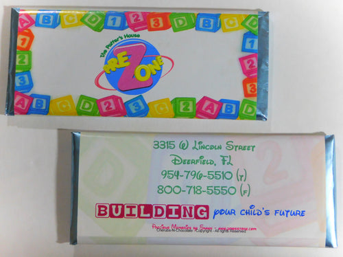 CANDY BAR WRAPPERS - BABY BLOCKS- 1001-2500