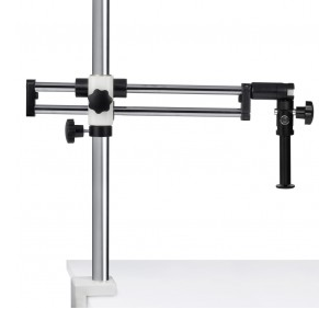 SMZ-161 Stand - Ball Bearing Boom (Table Clamp) stand, 25mm pole (600mm length) - (1101010100102) - Motic Microscopes