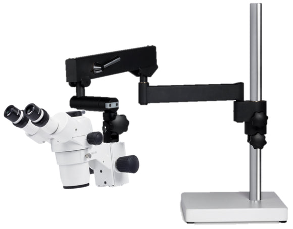 Boomstand Stereo - SMZ168 Trinocular with Articulating Boomstand