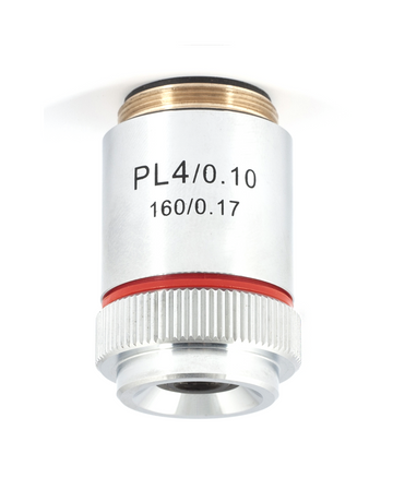 B1 Series Objective - Plan achromatic PL  4X / 0.10 for B1-22xA - (1101001703881)