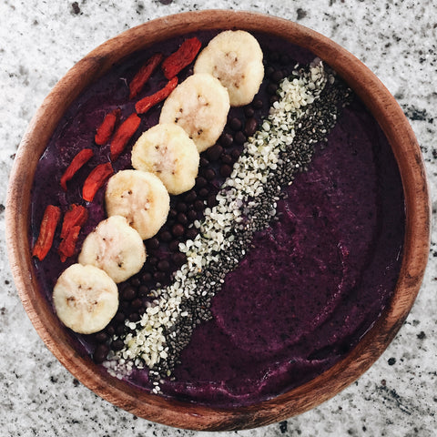 acas, smoothie bowl, smoothie, goji berry, chia seed, healthy snack, meal prep