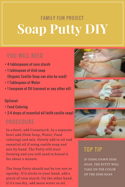 Dish Soap Silly Putty Recipe DIY - Family Activity on a Budget