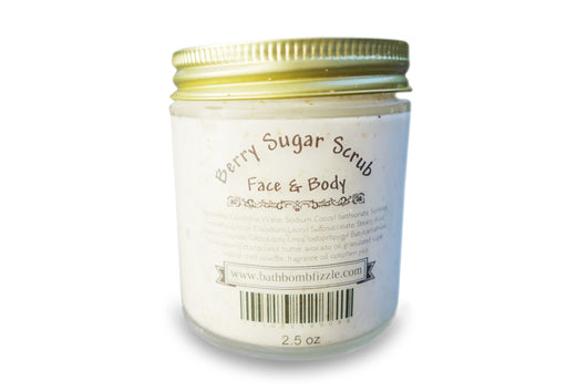 Berry Exfoliating Face and Body Sugar Scrub 2.5 oz - bathbombfizzle