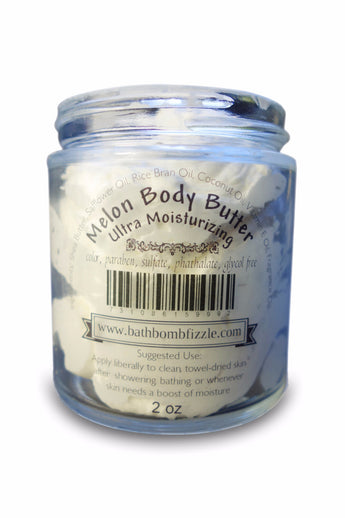 Cucumber Melon Whipped Body Butter 4.0 oz - bathbombfizzle