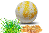 Frankincense lemongrass Essential Oil Bath Bomb 6 oz - bathbombfizzle