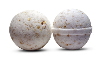 Coconut Crushed Oatmeal Bath Bomb 6 oz (unscented) - bathbombfizzle