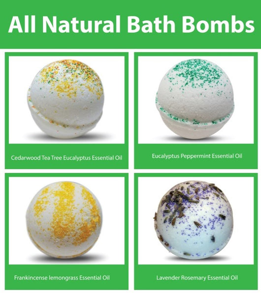 Essential Oil Bath Bomb Gift Set (4) - bathbombfizzle
