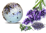 Lavender Rosemary Essential Oil Bath Bomb 6oz. - bathbombfizzle