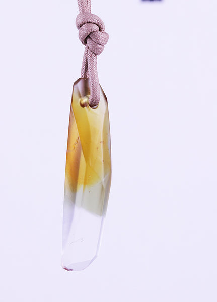 Cast Glass Crystal Pendant 24