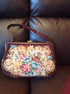1950s Made In London Double side needle point lined purse