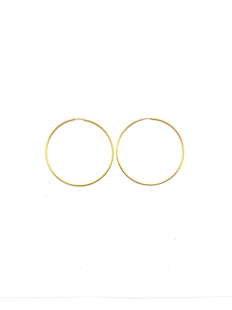 THIN ENDLESS HOOPS 6 SIZES - Jennifer Jones Collection
