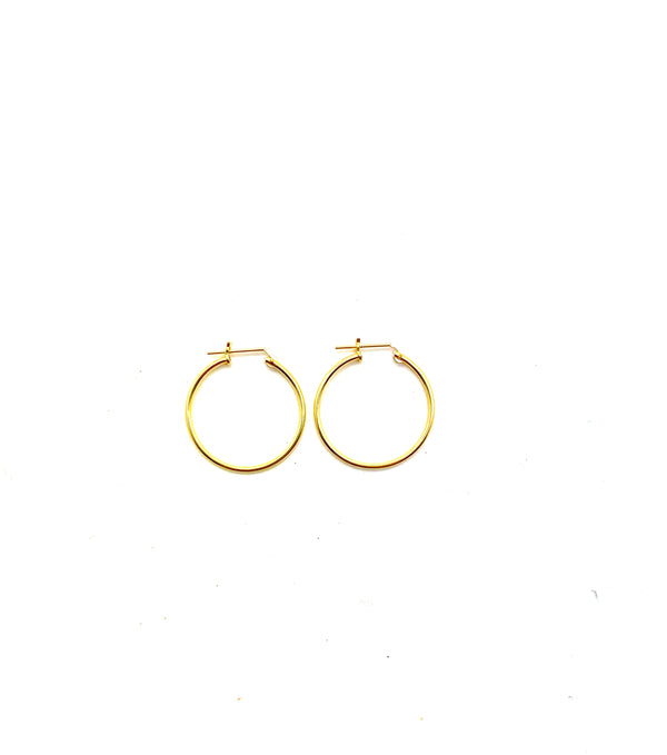 THIN CLICK HOOPS - Jennifer Jones Collection