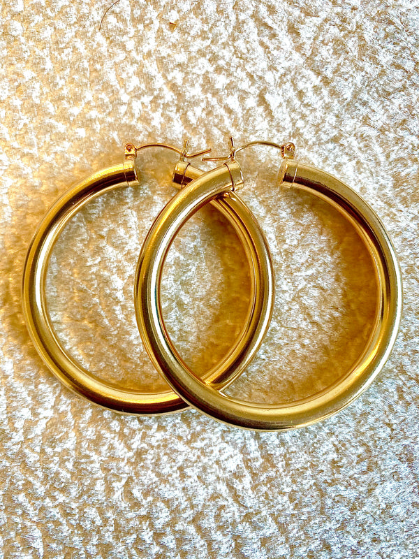 BIANCA THICK HOOPS - Jennifer Jones Collection