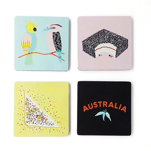 Aussie Wood Coasters
