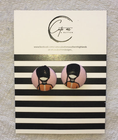 Cute as a Button Designs Soldier Earring