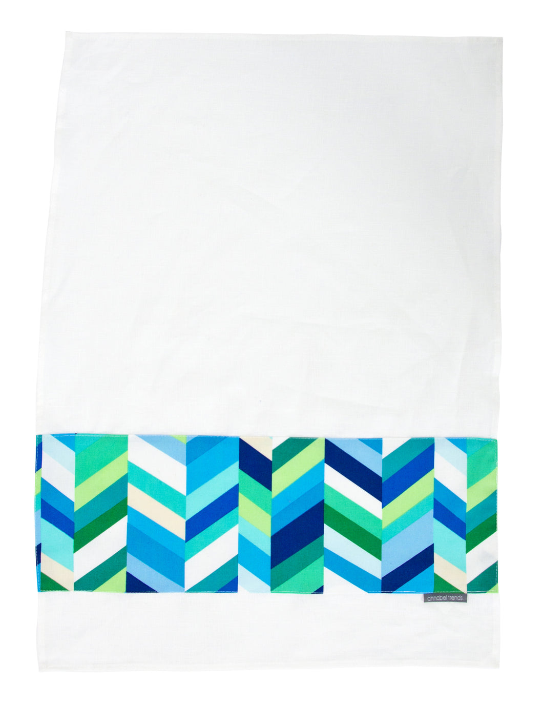 Annabel Trends Geo Pop Herringbone Lagoon Tea Towel