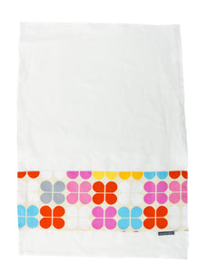 Annabel Trends Clover Sorbet Linen Fabric Tea Towel