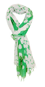 Annabel Trends Green and White Spot Scarf