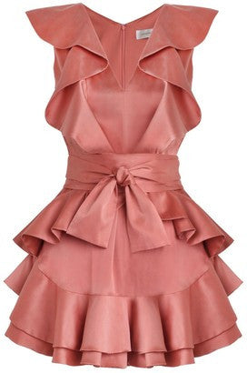 Zimmermann Winsome Flounce Guava Dress