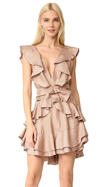 Zimmermann Winsome Flounce Gold Dress