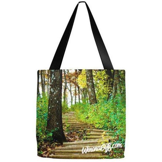 Winona Minnesota Tote Bag Garvin Heights Steps - Kari Yearous Photography KetoLaughs