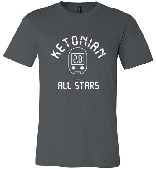 Keto T-Shirt Ketonian All Stars Blood Ketone Reading - Kari Yearous Photography WinonaGifts KetoGifts LoveDecorah
