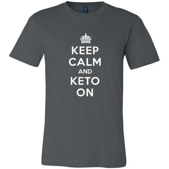 Keto T-Shirt Keep Calm and Keto On, Canvas Unisex T-Shirt - Kari Yearous Photography KetoLaughs