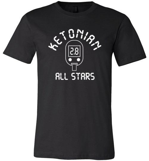Keto T-Shirt Ketonian All Stars Blood Ketone Reading, Int'l Listing - Kari Yearous Photography WinonaGifts KetoGifts LoveDecorah