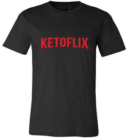 Keto Shirt Ketoflix Netflix, Canvas Unisex - Kari Yearous Photography WinonaGifts KetoGifts LoveDecorah