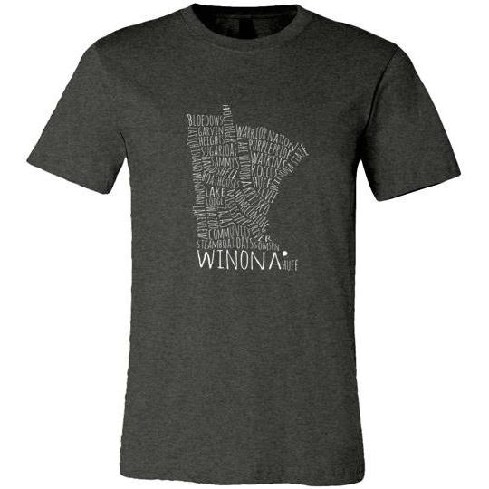 Winona University Spirit Shirt, Canvas Unisex - Kari Yearous Photography WinonaGifts KetoGifts LoveDecorah