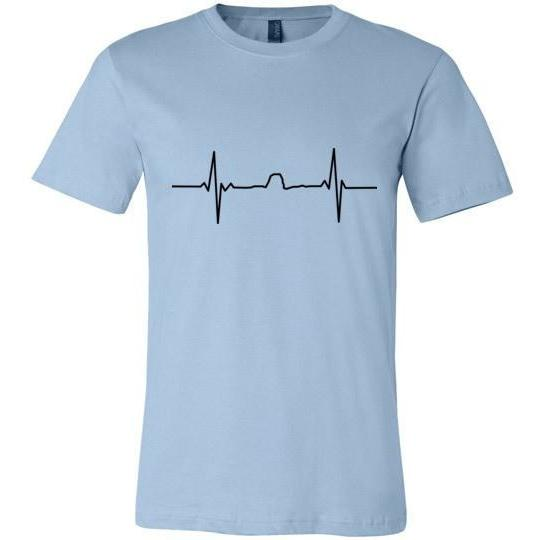Winona Minnesota T-Shirt Sugarloaf Heartbeat, Canvas Unisex - Kari Yearous Photography KetoLaughs