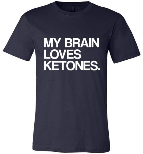 Keto Shirt My Brain Loves Ketones, Int'l Listing - Kari Yearous Photography WinonaGifts KetoGifts LoveDecorah