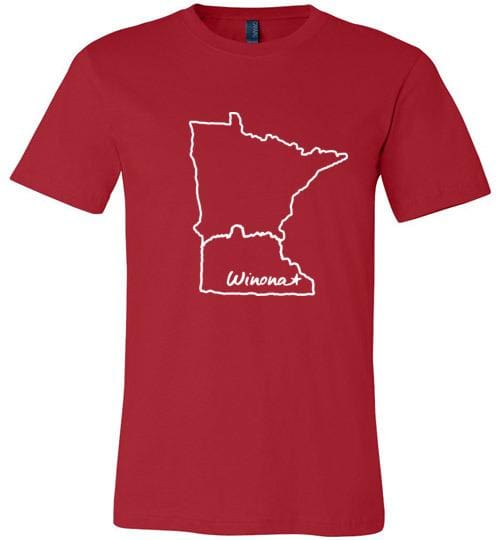Winona Minnesota Kids T-Shirt, Sugarloaf in MN Outline, Canvas Unisex Tee - Kari Yearous Photography WinonaGifts KetoGifts LoveDecorah