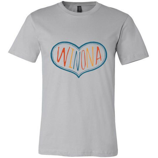 Winona MN T-Shirt Multicolor Heart, Short Sleeve - Kari Yearous Photography WinonaGifts KetoGifts LoveDecorah