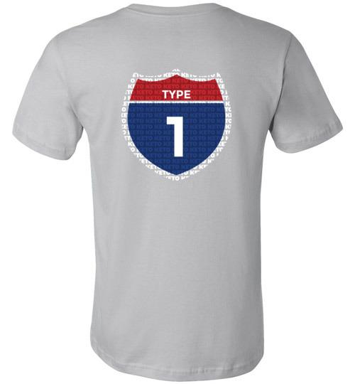 Type One Keto T-Shirt, Interstate, Canvas Unisex Shirt