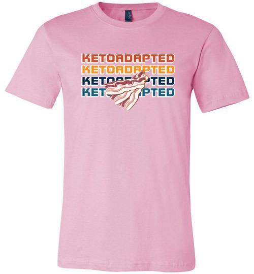 Keto Ketoadapted T-Shirt, Ketoadapted with Bacon, Canvas Unisex - Kari Yearous Photography WinonaGifts KetoGifts LoveDecorah