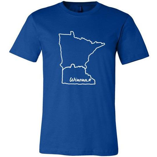 Winona Minn Youth T-Shirt Winona Star in State Shape - Kari Yearous Photography WinonaGifts KetoGifts LoveDecorah