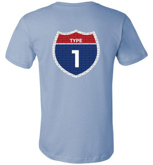 Type One Keto T-Shirt, Interstate, Canvas Unisex Shirt - Kari Yearous Photography WinonaGifts KetoGifts LoveDecorah