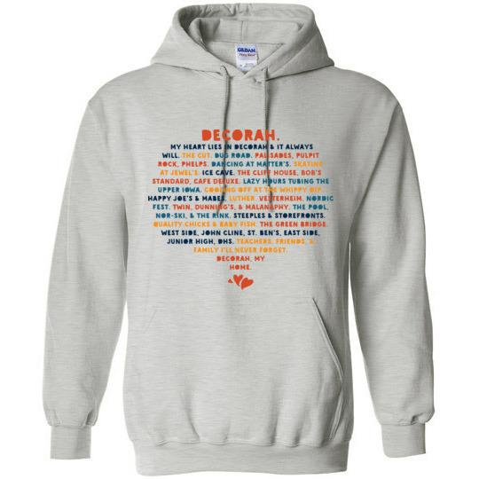 Decorah IA Hoodie Sweatshirt, My Heart Lies in Decorah Sweatshirt - Kari Yearous Photography KetoLaughs