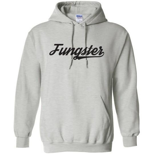 Fasting Fungster Hooded Sweatshirt, Dark on Light, Gildan Heavy Blend