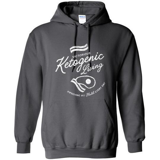Keto Hoodie Victorious Ketogenic Living - Kari Yearous Photography WinonaGifts KetoGifts LoveDecorah