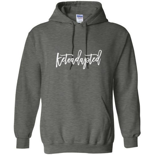 Keto Hoodie Ketoadapted Light on Dark - Kari Yearous Photography KetoLaughs