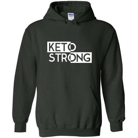Keto Hoodie Sweatshirt Keto Strong - Kari Yearous Photography WinonaGifts KetoGifts LoveDecorah