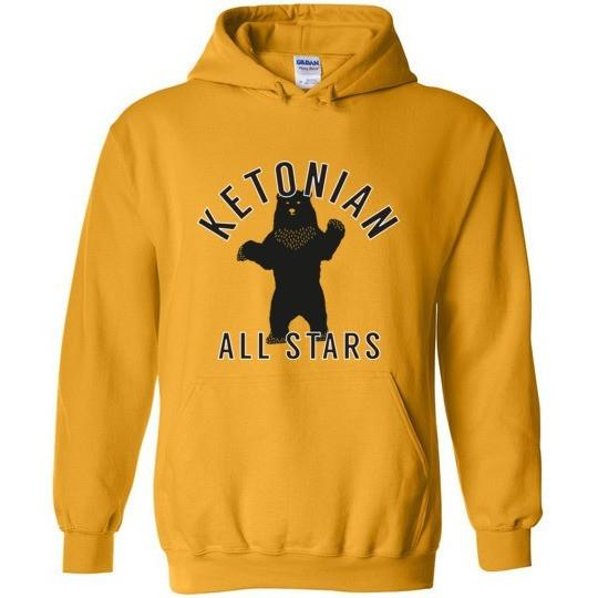 Keto Hoodie, Ketonian All Stars Standing Bear, Gildan Heavy Blend